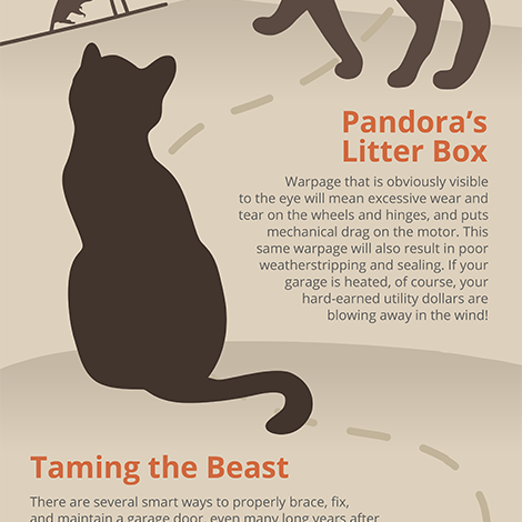 Garage door Caturday infographic