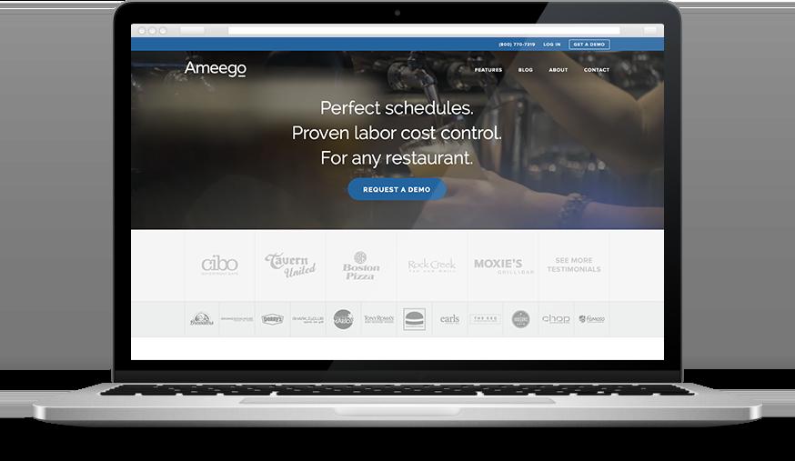 Ameego restaurant scheduling software