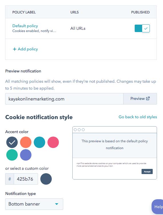 Cookie-notification-screen